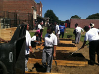 we let the students build this garden at Franklin Military Academy, part of a grant from one of our corporate partners